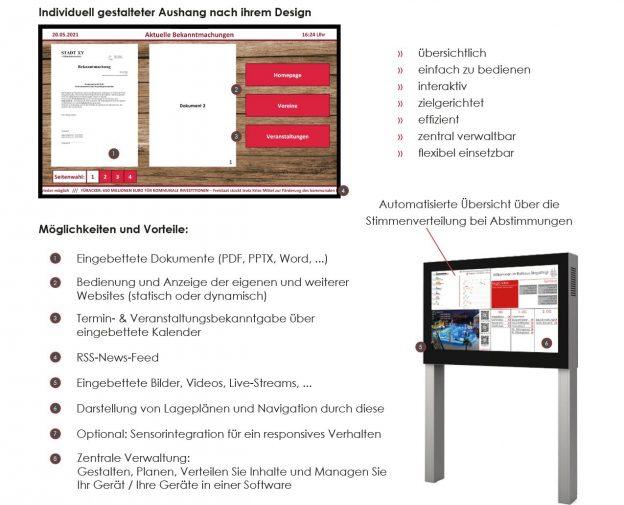 Digitale Amtstafel